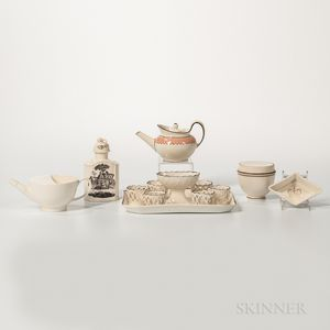 Six Creamware Items