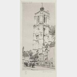 Samuel V. Chamberlain (American, 1895-1975)      The Church at Sezanne
