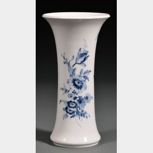 Meissen Porcelain Blue and White Vase