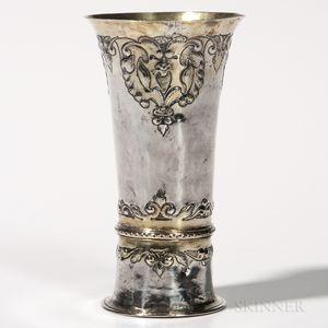 Hungarian Parcel-gilt Silver Beaker