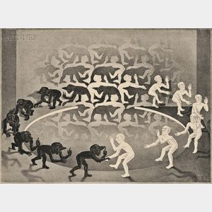 M.C. Escher (Dutch, 1898-1972)      Encounter