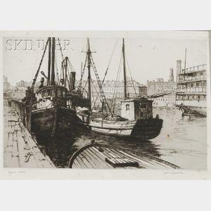 Samuel V. Chamberlain (American, 1895-1975)      Boston Fish Pier