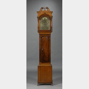 Walnut Tall Case Clock by Henry Godshalk
