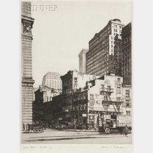 Samuel V. Chamberlain (American, 1895-1975)      Lower Manhattan - Old and New