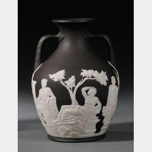 Wedgwood Black Jasper Dip Portland Vase