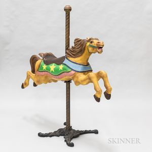"""C.W. Parker Company """"Jumper"""" Polychrome Carved Carousel Horse"""
