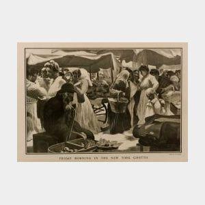 (Illustration) Collection of Twenty-three American-Jewish Prints