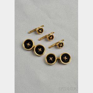 18kt Gold and Onyx Dress Set, Tiffany & Co.