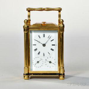 Austrian Quarter-striking Calendar Carriage Clock with Alarm