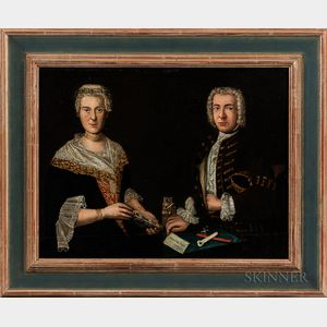 German School, 18th Century      Portrait of Philipp Ludwig Finckh and Sophie Magdalene Godelmann