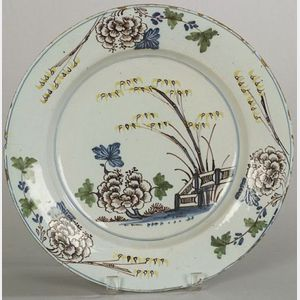 Bristol Delftware Polychrome Decorated Charger