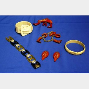 Lot of Bakelite and Plastic Jewelry