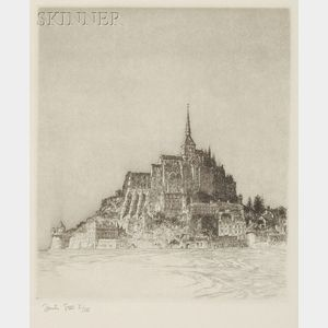 Samuel V. Chamberlain (American, 1895-1975)      Lot of Two Impressions of Mont-Saint-Michel
