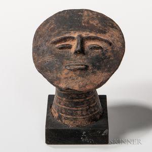 Ashanti Terra-cotta Funerary Head