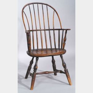 Painted Maple and Ash Windsor Sack-back Chair