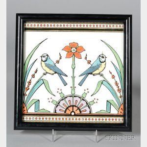 Minton's Earthenware Christopher Dresser Design Tile