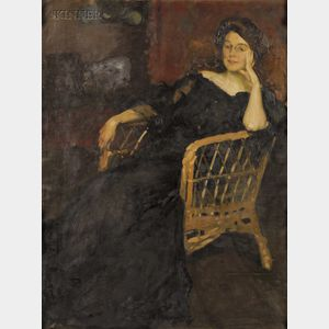 Claudio Castelucho  (American, 1870-1927)      Portrait of a Seated Woman.