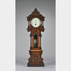 Sold for: $195,525 - Walnut Astronomical Regulator by E. Howard