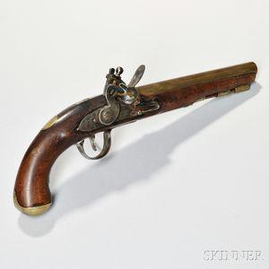 Ketland Brass-barrel Flintlock Pistol