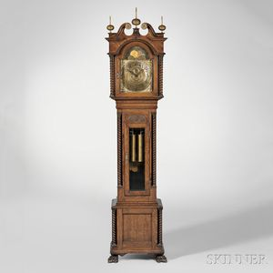 Walter Durfee & Co. Oak Tall Clock
