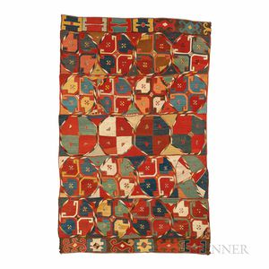 "Uzbek ""Palas"" Embroidered Rug"