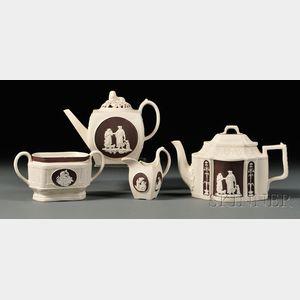 Four Turner Stoneware Tea Wares