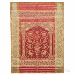 Ottoman Silk Lampas Panel