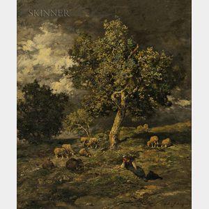 Charles Émile Jacque (French, 1813-1894)      La Bergère