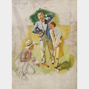 American School, 20th Century      The Croquet Game