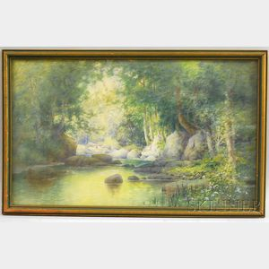 American School, 19th Century      Spring in the Forest
