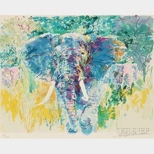 LeRoy Neiman (American, 1921-2012)      Bull Elephant