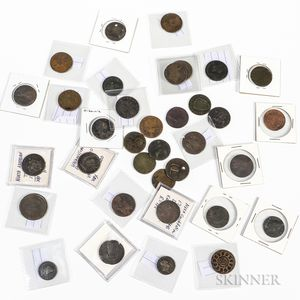 Thirty-five Colonial Copper Coins