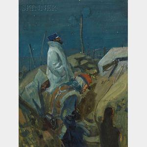 Charles Constantine Hoffbauer  (American, 1875-1957)      Christmas Eve