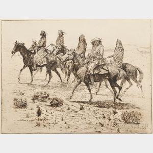 Edward Borein (American, 1872-1945)      Navajos