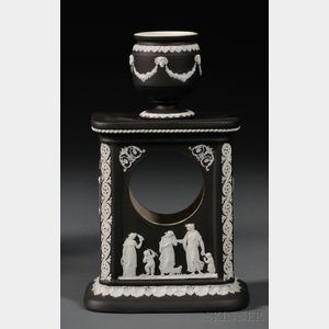 Wedgwood Black Jasper Dip Clock Case