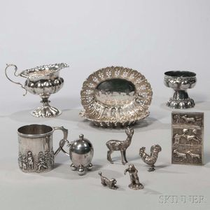 Ten English Sterling Silver Items
