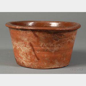 Redware Pudding Pot