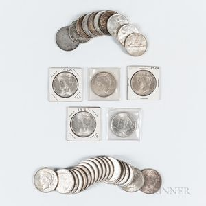 Thirty-two Peace Dollars
