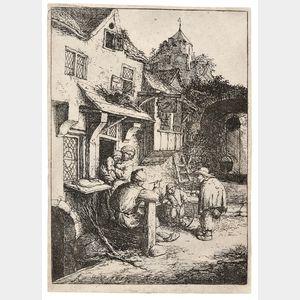 Adriaen Jansz van Ostade (Dutch, 1610-1685)      The Hunchbacked Fiddler
