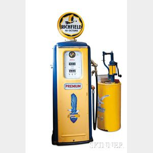 Antique Ritchfield Gas Pump and a Oil Pump