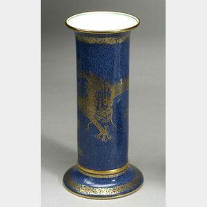 Wedgwood Powder Blue Lustre Decorated Bone China Vase
