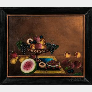American School, 19th Century      Sill Life with Fruit