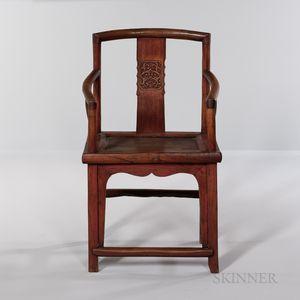 Yew Wood Armchair
