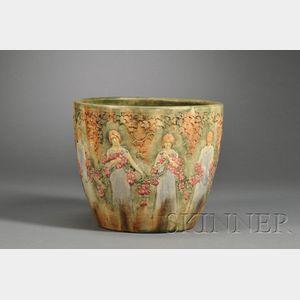 Weller Zona Pattern Pottery Jardiniere