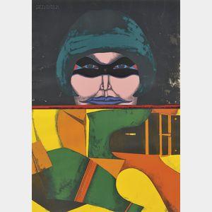 Richard Lindner (American/German, 1901-1978)      The Mask