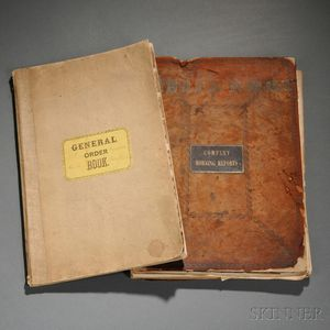 37th North Carolina General Order Book, and a 175th Pennsylvania Company Morning Reports Book