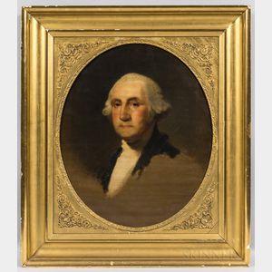 Jane Stuart (Rhode Island/Massachusetts, 1812-1888)      Portrait of George Washington After Gilbert Stuart
