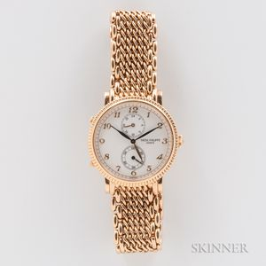 "Patek Philippe 18kt Gold Calatrava ""Travel Time"" Wristwatch"