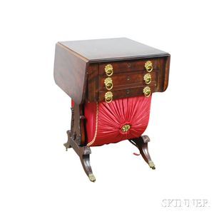 Federal Carved Mahogany Sewing Stand