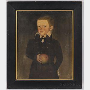Sheldon Peck (Illinois/Vermont, 1797-1868)      Portrait of John Newcomb Knapp (1826-1893) of Victory, New York